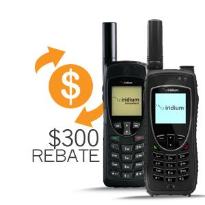 iridium 9575 and 9555 $300 Rebate Program